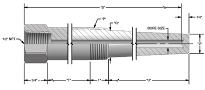 0.9 in Insrt Depth Stepped Thermowell